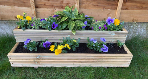 Two Tier Wooden Planter