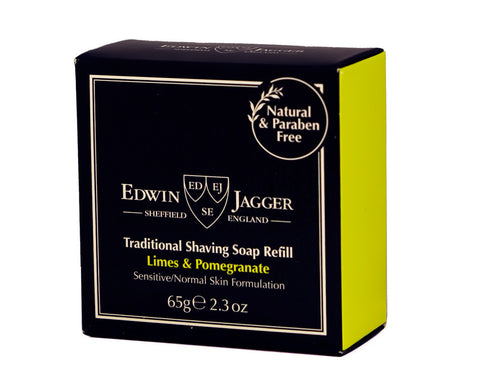 Edwin Jagger Traditional Shaving Soap Refill, Limes & Pomegranate