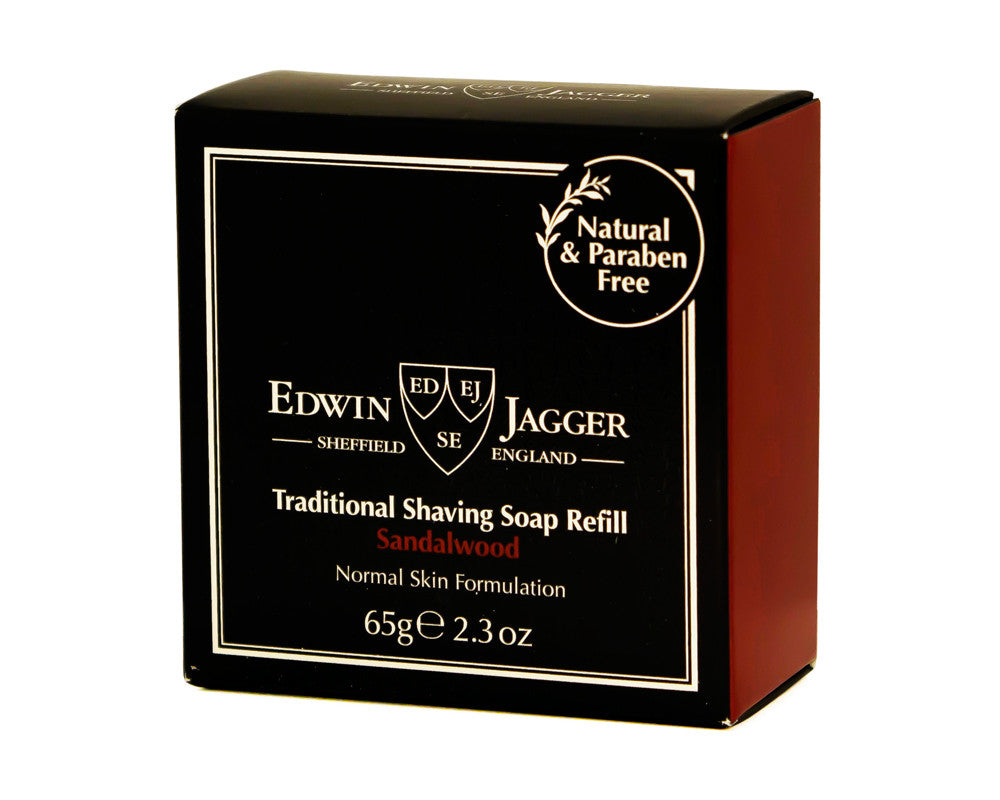 Edwin Jagger Traditional Shaving Soap Refill, Sandalwood