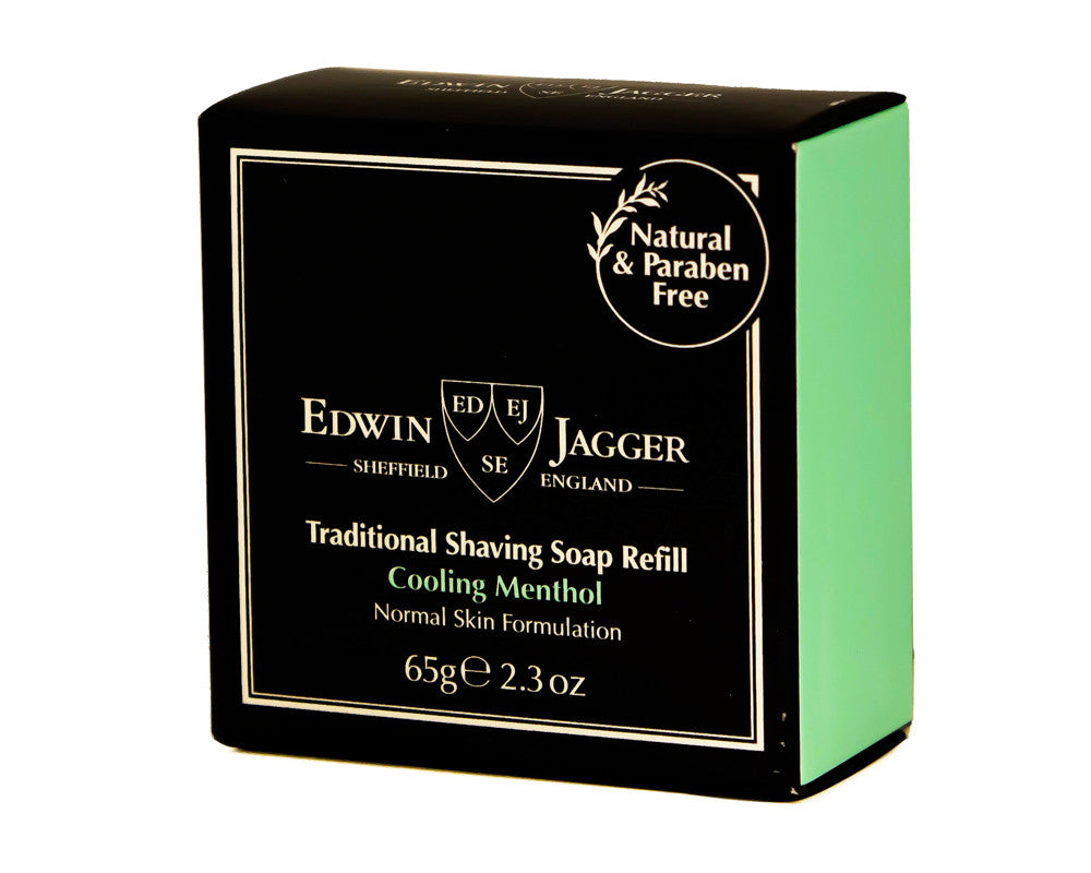 Edwin Jagger Traditional Shaving Soap Refill, Cooling Menthol