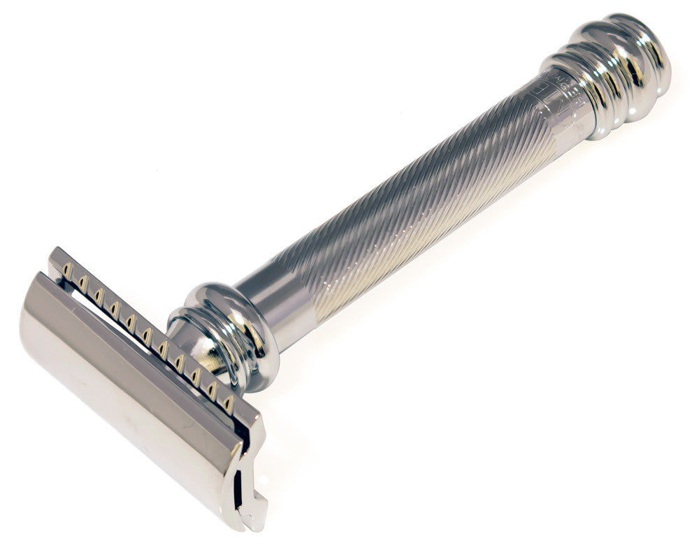 Merkur 38C Long Handle Barber Pole Safety Razor