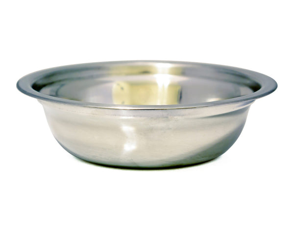 Groomistry Wide Mouth Stainless Steel Shaving Bowl
