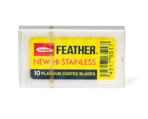 Feather New Hi-Stainless Platinum Coated Razor Blades, 10 Blades