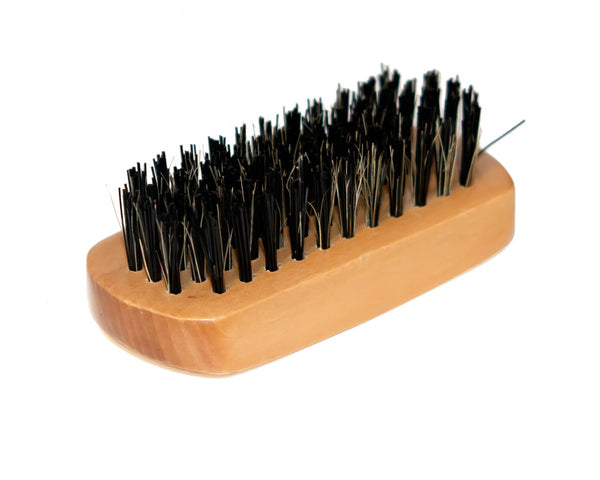 Annie Firm Boar Bristle Beard Brush, Mini