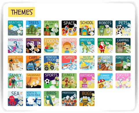 Themed worksheets to help with social development in preschoolers