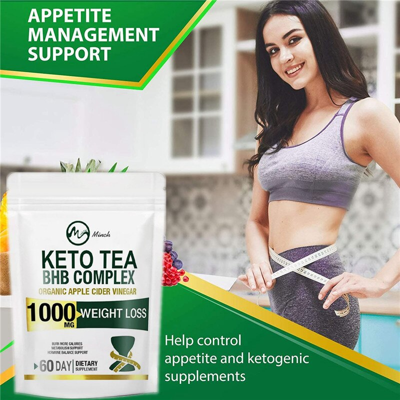 Minch 100% KETO Tea Slimming Products 102Days Detox Tea Colon Cleanse Fat Burn Weight Loss Products Man and Women Skinny Belly
