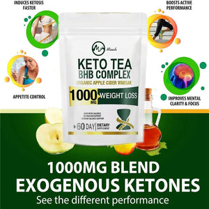 Minch 100% KETO Tea Slimming Products 102 Days Detox Tea Colon Cleanse Fat Burn Weight Loss Products Man and Women Skinny Belly