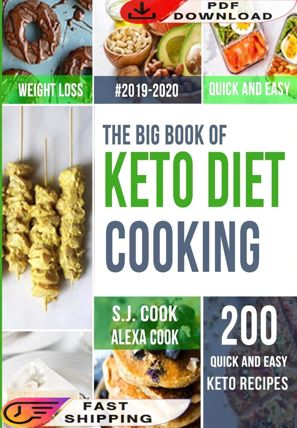 The Big Book of Keto Diet Cooking E-book (Digital Delivery)