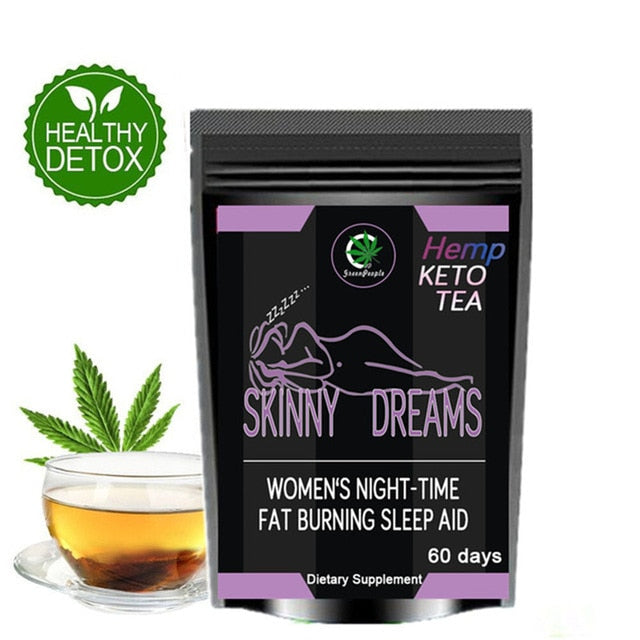 Effective KETO Tea Evening & Morning Detox Tea Burning Fat Flat Belly Healthy Weight Loss Products Without Side Effect