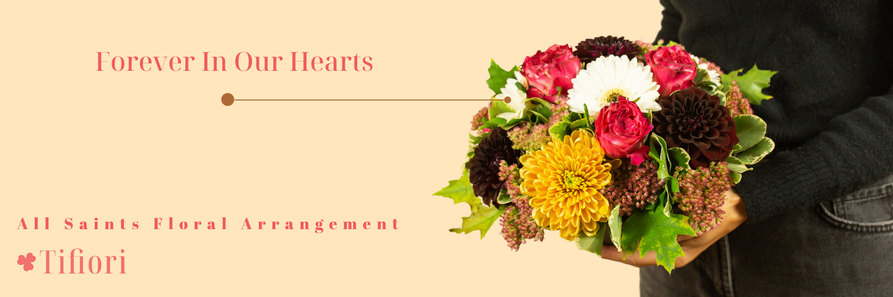 Forever In Our Hearts floral arrangement Toussaint