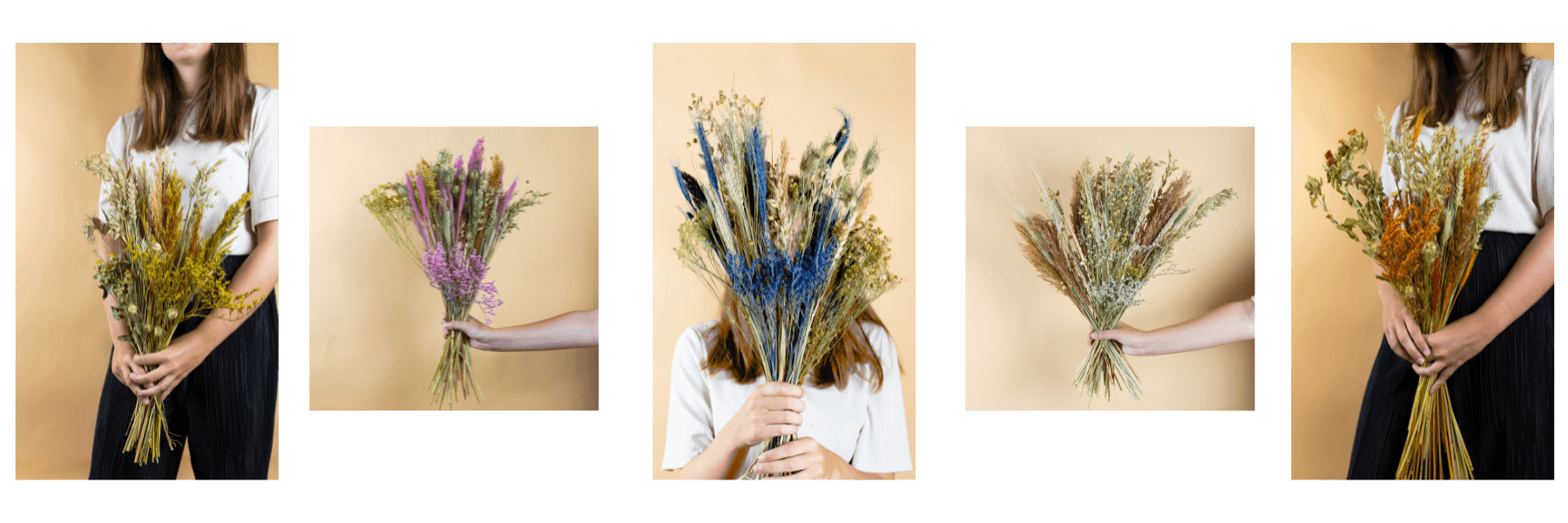 DIY Dried bouquets collection Tifiori dried flowers