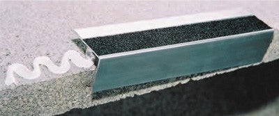 Aluminum Stair Nosings Fixing with Adhesive