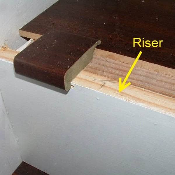 Install the Riser Material for Stair Nosing