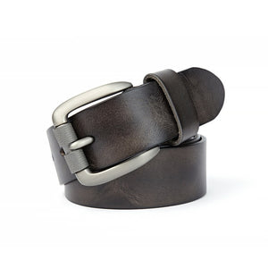 Men's leather Belt - Wave Side