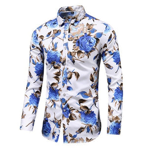 Men`s floral shirt - Wave Side