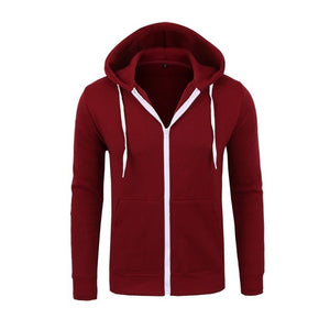 Men`s Zipper Hoodie - Wave Side