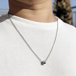 Stainless steel Necklace - Wave Side