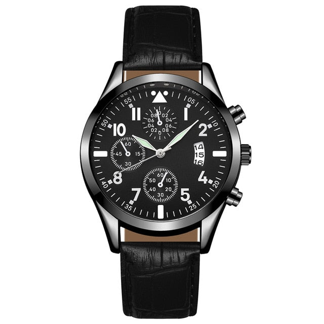 Men`s Wrist Watch - Wave Side