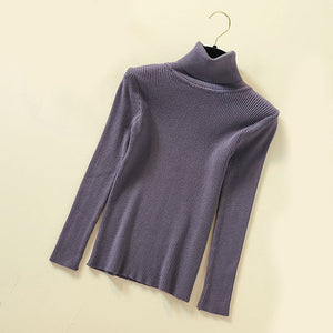 Womens Turtleneck - Wave Side