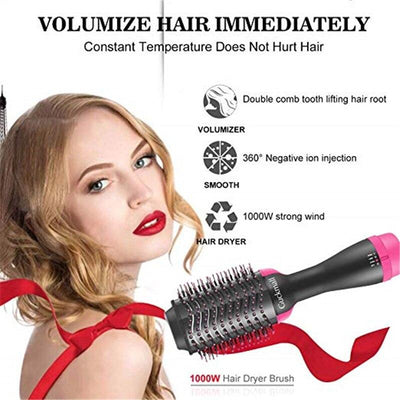 2-In-1 Hair Dryer With Multi Brush - 1StopShop