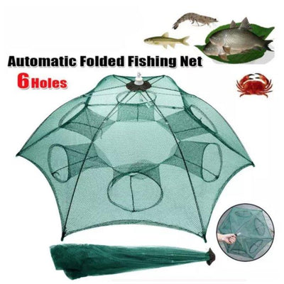 FOLDABLE 8 HOLE HEXAGON FISHING NET - 1StopShop