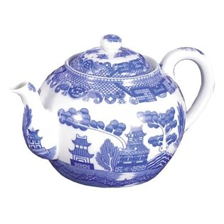 Harold Import Company 6 Cup Blue Willow Teapot with Infuser