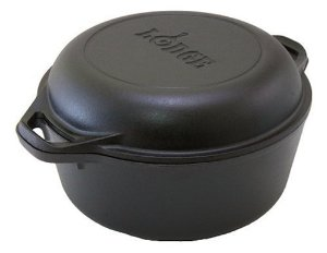 Lodge Logic 5qt. Double Dutch Oven and Skillet