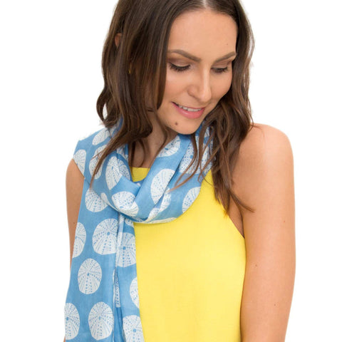 Sea Urchin 100% Cotton scarf - Larder Homewares and Jewellery
