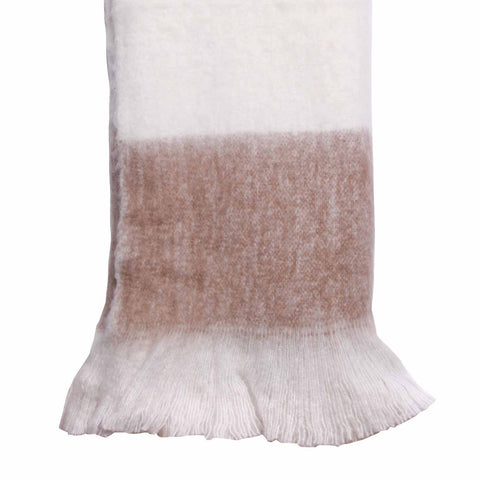 Larder Homewares Langkawi Wool Blend Throw (125x150cm) Taupe - wholesale Australia