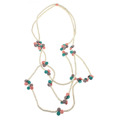'Love in Bloom' Wooden Bead Necklace - Lucy & Alice Jewellery