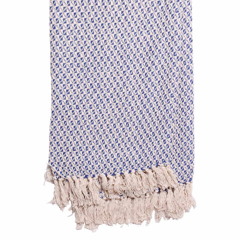 Larder Homewares Copacabana Cotton Throw (125x150cm) Blue - wholesale Australia