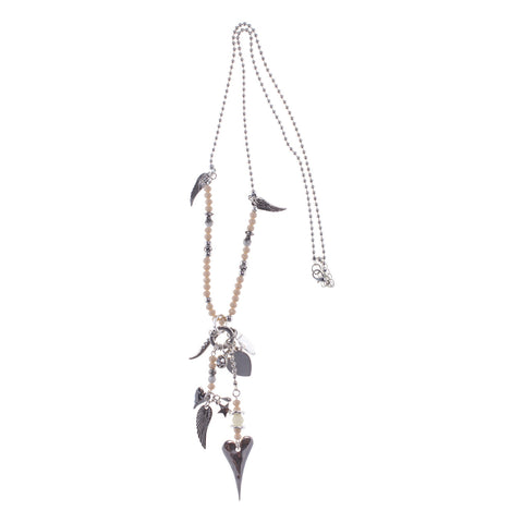 Spirit Bead Silver Charm Necklace - Lucy & Alice Jewellery