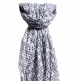 Larder homewares lucy and alice jewellery Ava Wool Blend Scarf Blue - wholesale retail Australia