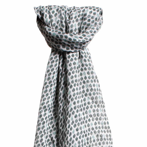 Larder homewares lucy and alice jewellery Ava Wool Blend Scarf Green - wholesale retail Australia