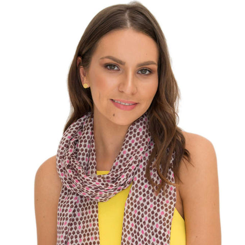 Ava Wool Blend Plum Scarf - Larder Homewares and Jewellery