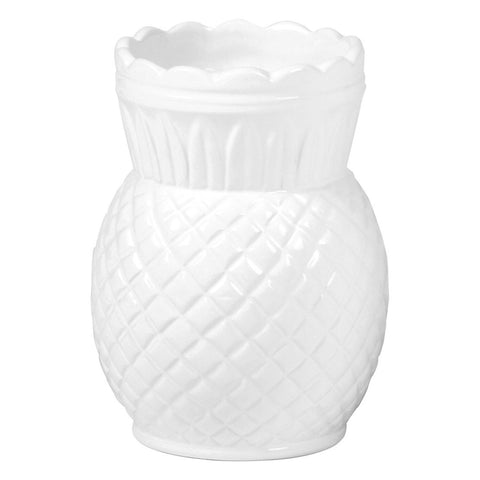 Pineapple Shaped White Porcelain Vase - LARDER Homewares