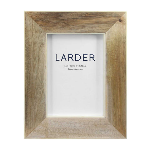 "Nahla Wooden Photo Frame 5""X7"" Larder Homewares Kitchen Australian Wholesale"