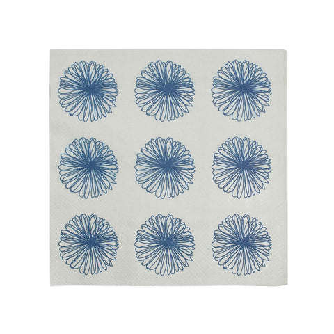 Paper Napkin Serviettes Bone and Navy - LARDER homewares