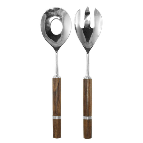 Wooden Handle Salad Servers set - LARDER Homewares