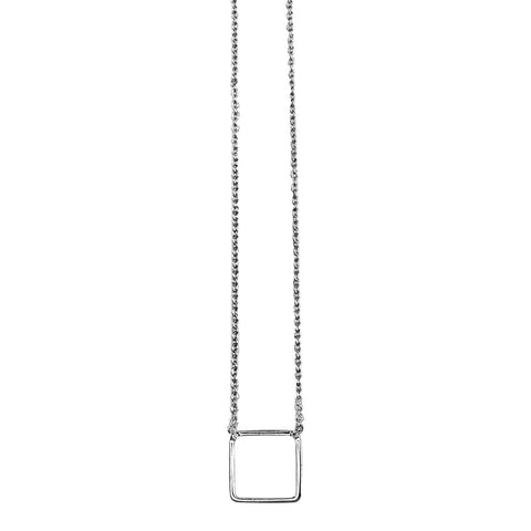 Small Square Necklace Silver - Larder Homeware and Jewellery