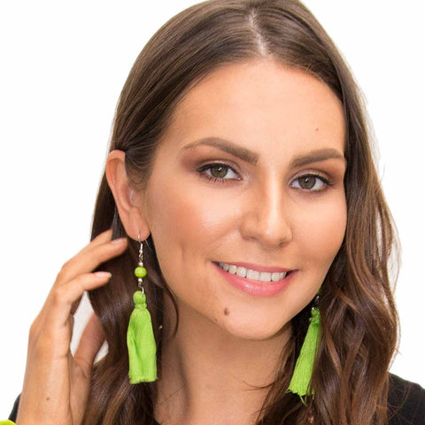 Green Tassel Earring - Larder Homewares and Jewellery