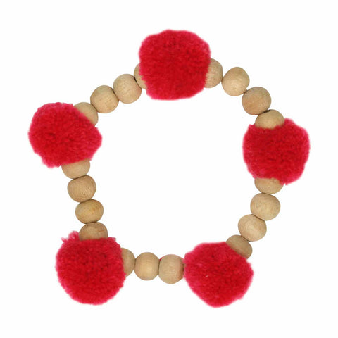 Pop Pom-pom red bracelet - Larder Homewares and Jewellery