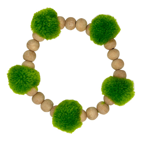 Pop Pom-pom green Bracelet - Larder Homewares and Jewellery