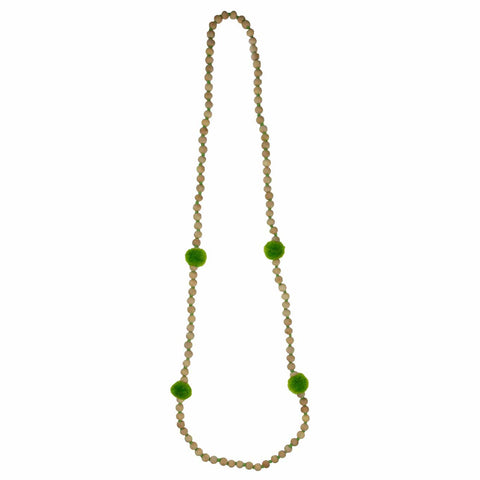 Pop pom-pom green necklace - Larder Homewares and Jewellery