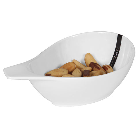 Pear Shaped Dip Bowl - LARDER Homewares White Crockery