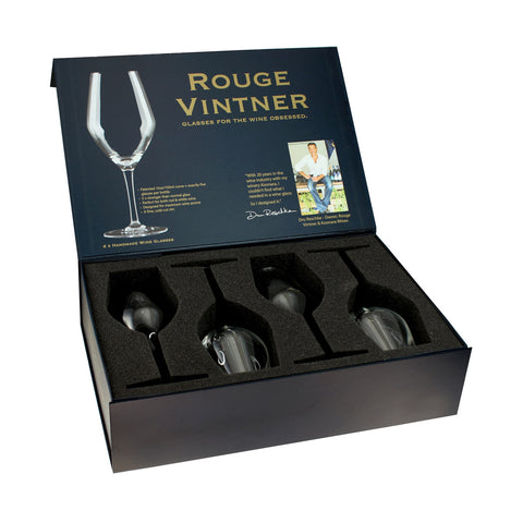 Rouge Vintner Wine Glass Gift Box (Set Of 4)
