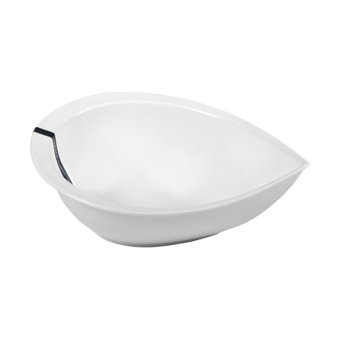Spring Tear Shaped Small Salad Bowl - LARDER Homewares White Crockery