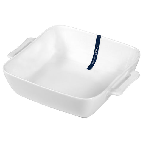Cucina Small Square Baking Dish - LARDER Homewares White Crockery