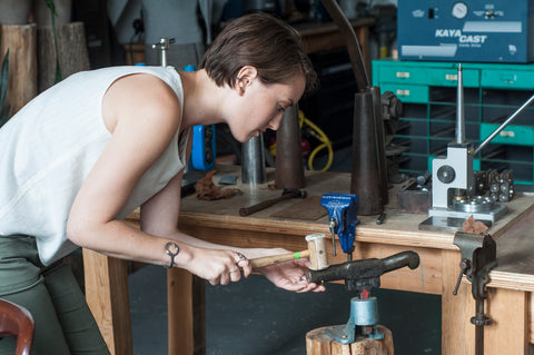 Meet Maddy Michael - designer and maker of Made Line Jewelry.