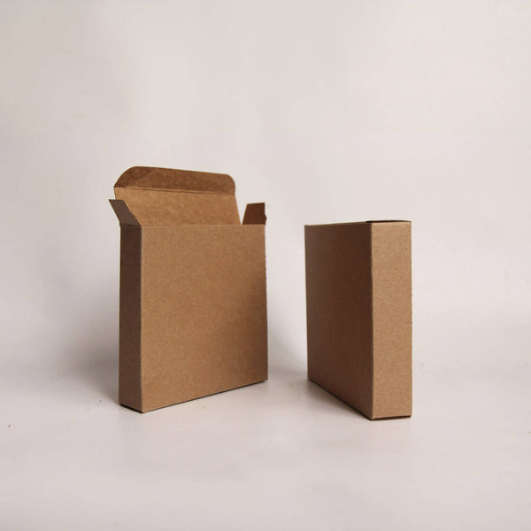 1 Sample Box- 4 1/2 x 1 7/8 x 4 1/2 inch Kraft Gift Boxes-  Cookie Box - Card Box - Print Box